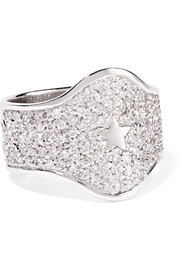 Carolina Bucci 18-karat white gold diamond ring