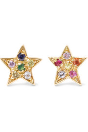 Carolina Bucci 18-karat gold sapphire earrings