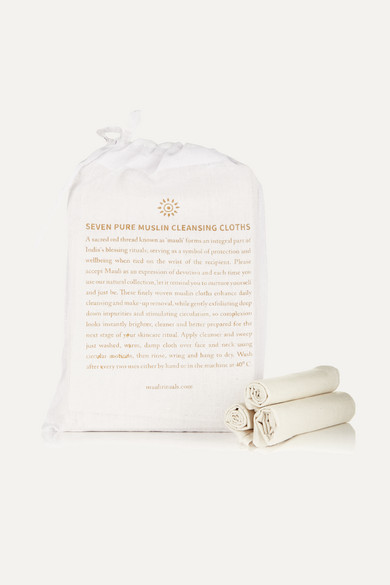 MAULI RITUALS Set Of Seven Pure Muslin Cleansing Cloths - One Size in Colorless
