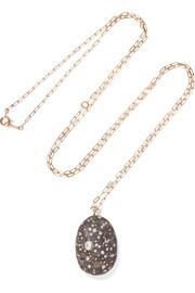 CVC Stones Sinai 18-karat gold, stone and diamond necklace
