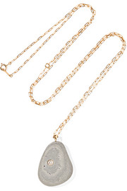 CVC Stones Sol de Mayo 18-karat gold, stone and diamond necklace