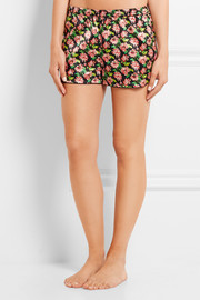 Stella McCartney Ellie Leaping floral-print stretch-silk pajama shorts