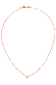 Carnival gold-plated diamond necklace