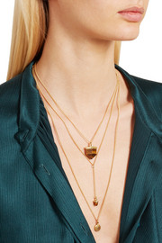 Charmed Solar gold-plated necklace