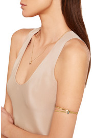 Slized Eternity gold-plated stone arm cuff
