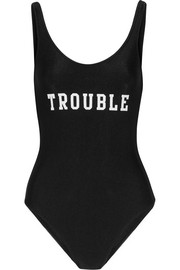 Trouble printed swimsuit
