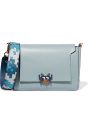 Anya Hindmarch Bathurst python-trimmed leather shoulder bag