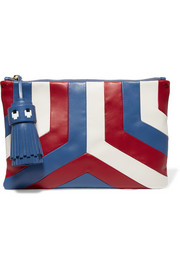 Anya Hindmarch Georgiana tasseled leather clutch