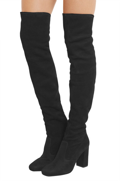 Saint Laurent | Stretch-suede over-the-knee boots | NET-A-PORTER.COM