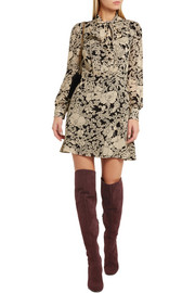 BB stretch-suede over-the-knee boots