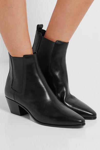 Saint Laurent Rock Leather Chelsea Boots Net A Porter Com