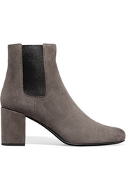 Saint Laurent Babies suede ankle boots