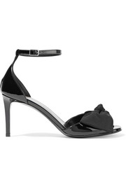 Jane bow-embellished patent-leather sandals