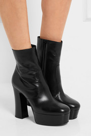 Saint Laurent Candy leather platform boots