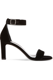 Saint Laurent Grace velvet sandals