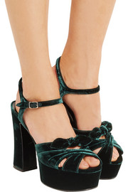 Saint Laurent Candy velvet platform sandals