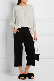 Tibi Cropped stretch-crepe wide-leg pants