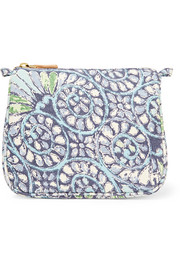 Mediterranean Honeysuckle medium printed cotton-canvas cosmetics case