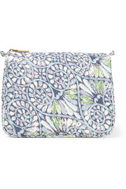 Mediterranean Honeysuckle large printed cotton-canvas cosmetics case