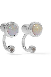 Pamela Love Gravitation silver, opal and topaz earrings