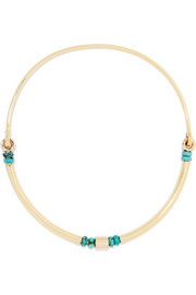 Rivera gold-plated turquoise choker