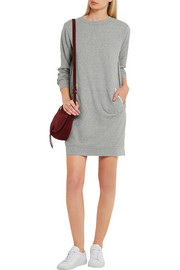 CLU Lace and silk-paneled cotton-jersey mini dress