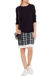 CLU Mix Media cotton and plaid silk-blend dress