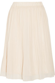 CLU Pleated chiffon skirt