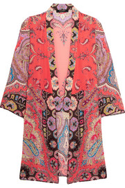 Printed silk crepe de chine jacket