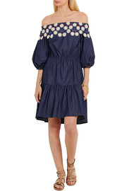 Peter Pilotto Pallas off-the-shoulder embroidered cotton dress