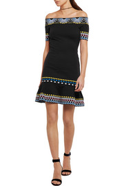 Peter Pilotto Off-the-shoulder knitted mini dress