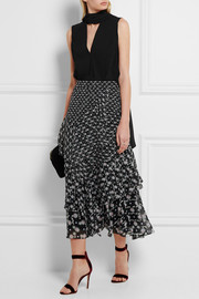 Peter Pilotto Floral-print silk-georgette midi skirt
