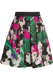 Mary Katrantzou Algernon printed silk and cotton-blend mini skirt