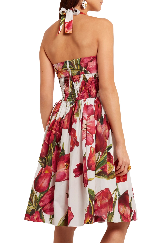 Dolce & Gabbana Floral-print cotton-poplin dress