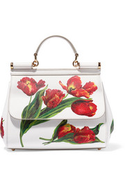 Dolce & Gabbana Sicily medium floral-print textured-leather tote