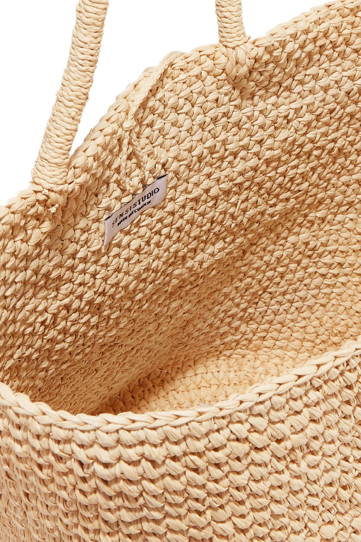Sensi Studio Maxi woven toquilla straw tote