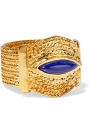 Aurélie Bidermann Sunset gold-plated lapis lazuli ring