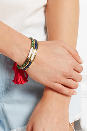 Aurélie Bidermann Sioux gold-plated, jasper, bamboo and cotton cuff