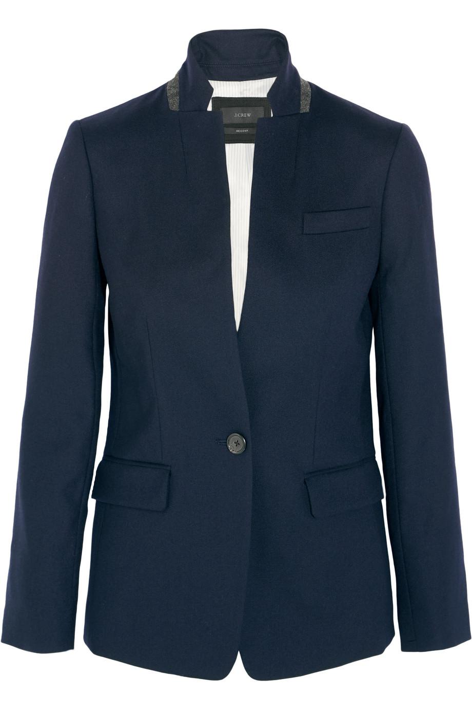 J.Crew Regent Stretch-Wool Blazer, Navy, Women's, Size: 2