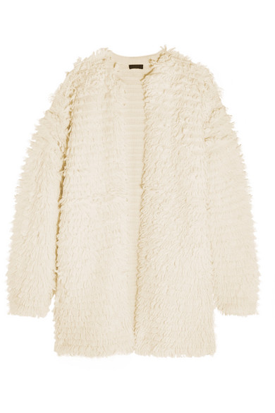 J.Crew - Bouclé-knit Coat - Cream