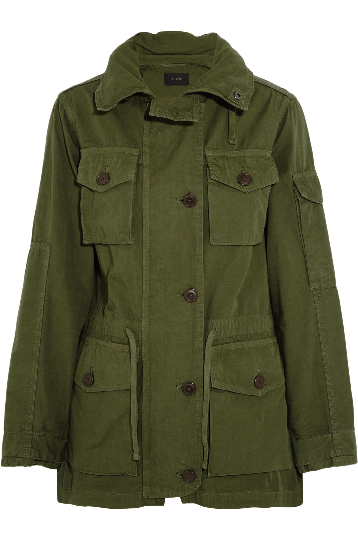 J.Crew Hooded cotton-canvas field jacket