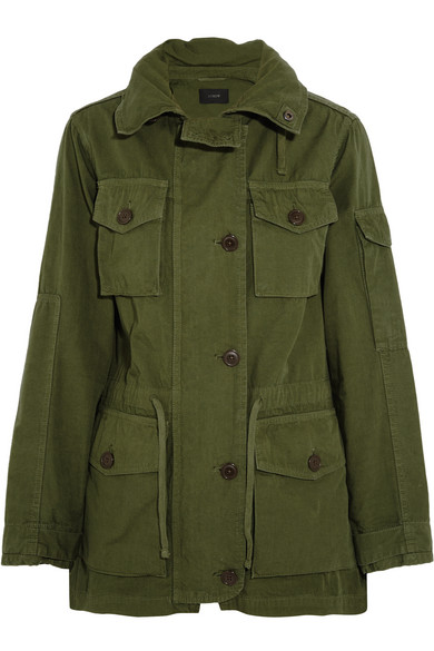 J.Crew - Hooded Cotton-canvas Field Jacket - Army green