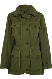 Hooded cotton-canvas field jacket