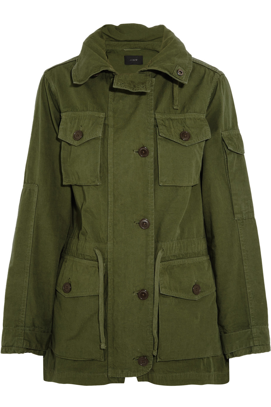 J.Crew Hooded Cotton-Canvas Field Jacket, Size: M