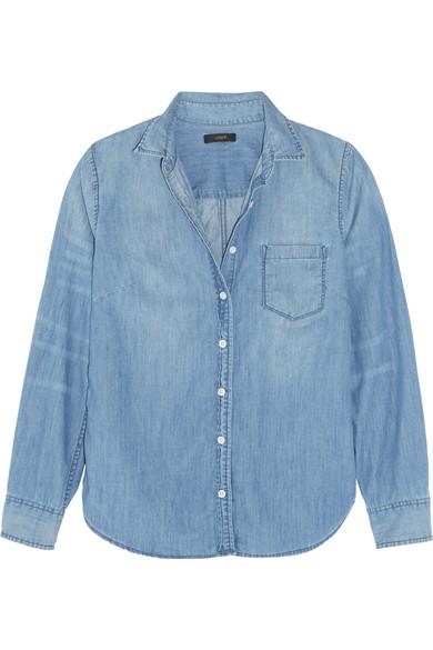 J.Crew - Cotton-chambray Shirt - Light blue