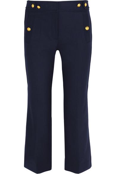 J.Crew - Sailor Cropped Wool-blend Straight-leg Pants - Navy