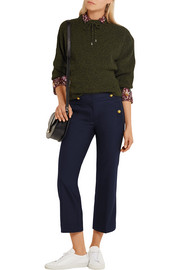 J.Crew Sailor cropped wool-blend straight-leg pants