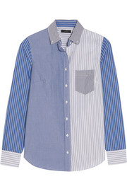 J.Crew Cocktail striped cotton-poplin shirt