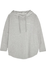 Cotton-blend hooded sweatshirt