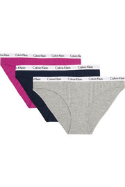 Set of three Carousel stretch-cotton jersey briefs